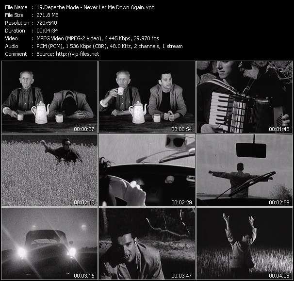 Screenshot of Music Video Depeche Mode - Never Let Me Down Again