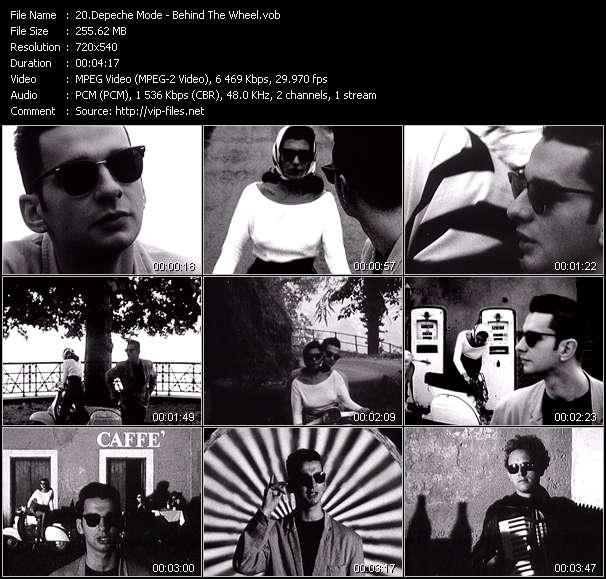 Screenshot of Music Video Depeche Mode - Behind The Wheel