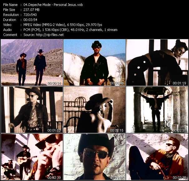 Screenshot of Music Video Depeche Mode - Personal Jesus