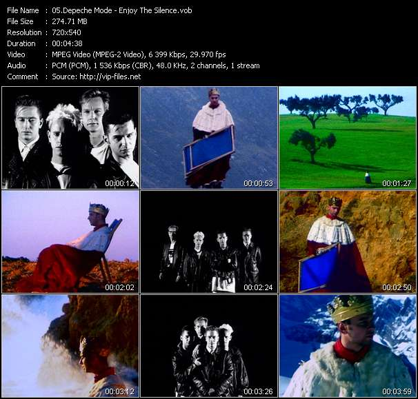 Screenshot of Music Video Depeche Mode - Enjoy The Silence