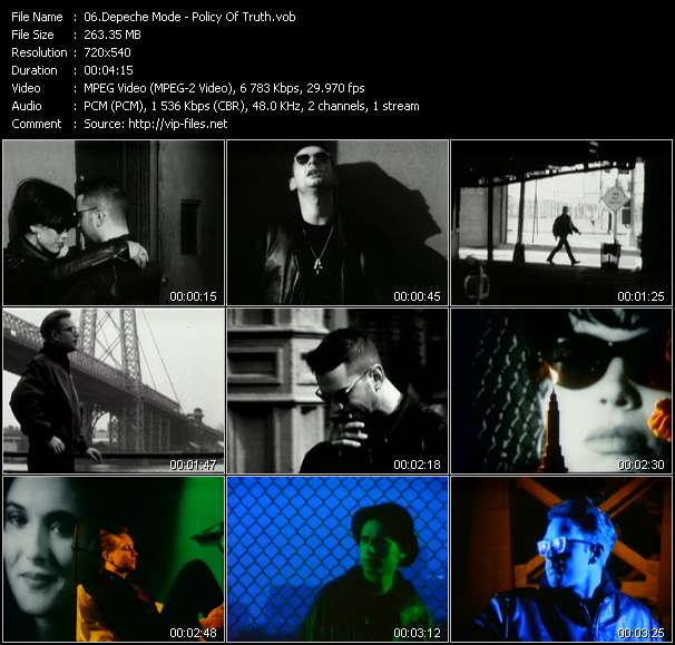 Screenshot of Music Video Depeche Mode - Policy Of Truth