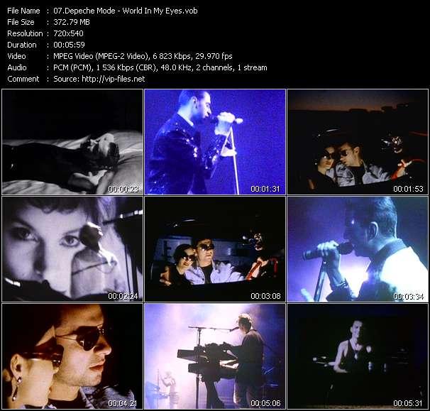 Screenshot of Music Video Depeche Mode - World In My Eyes