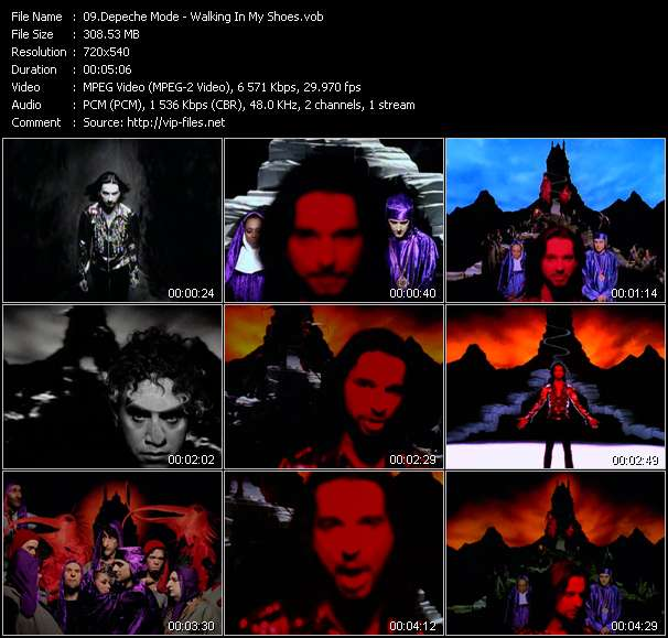 Screenshot of Music Video Depeche Mode - Walking In My Shoes
