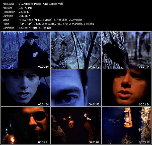 Screenshot of Music Video Depeche Mode - One Caress