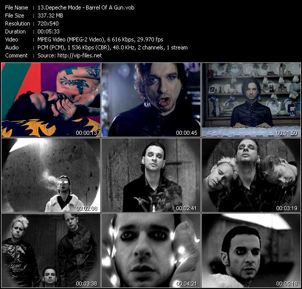 Screenshot of Music Video Depeche Mode - Barrel Of A Gun