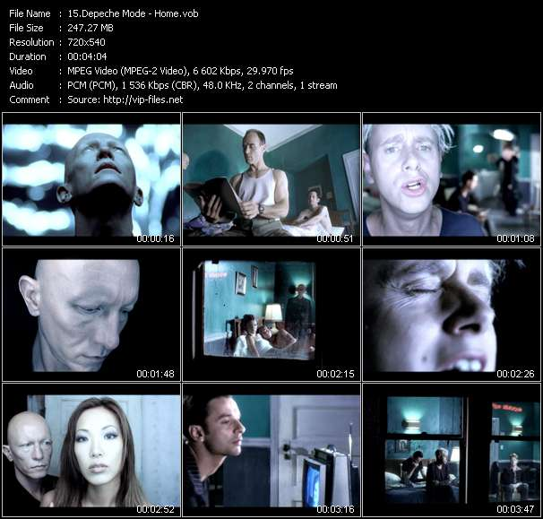 Screenshot of Music Video Depeche Mode - Home