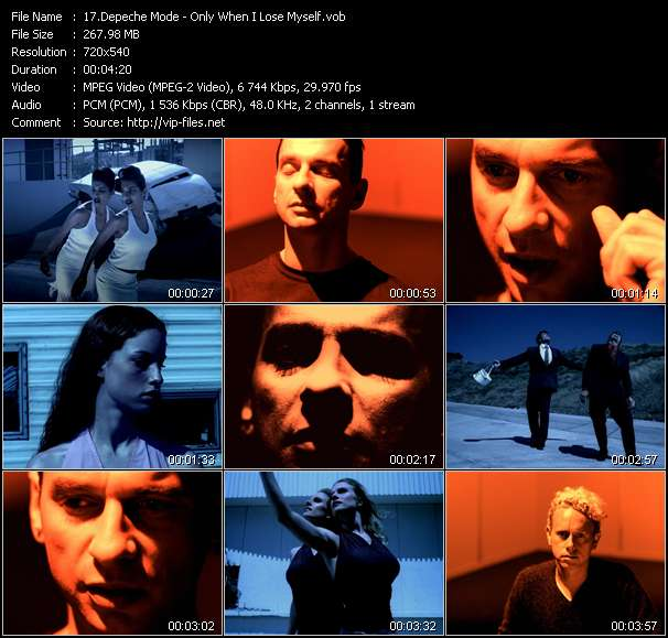 Screenshot of Music Video Depeche Mode - Only When I Lose Myself