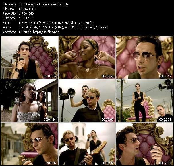 Screenshot of Music Video Depeche Mode - Freelove