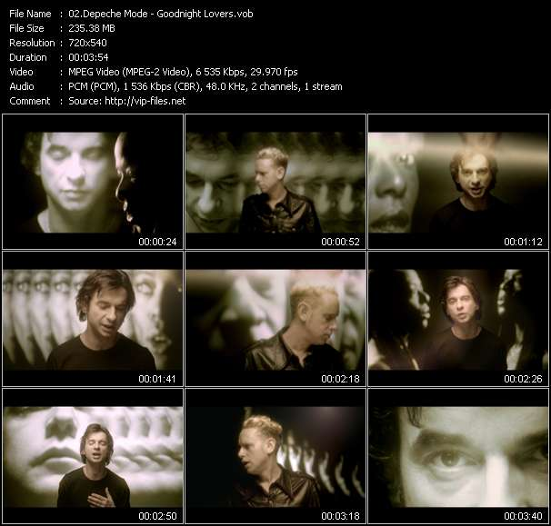 Screenshot of Music Video Depeche Mode - Goodnight Lovers