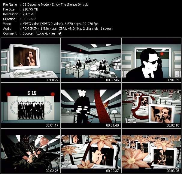 Screenshot of Music Video Depeche Mode - Enjoy The Silence 04