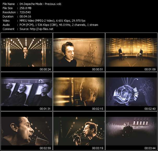 Screenshot of Music Video Depeche Mode - Precious