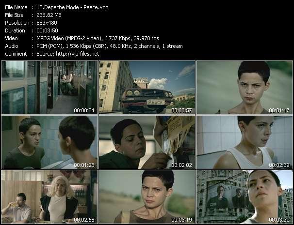 Screenshot of Music Video Depeche Mode - Peace
