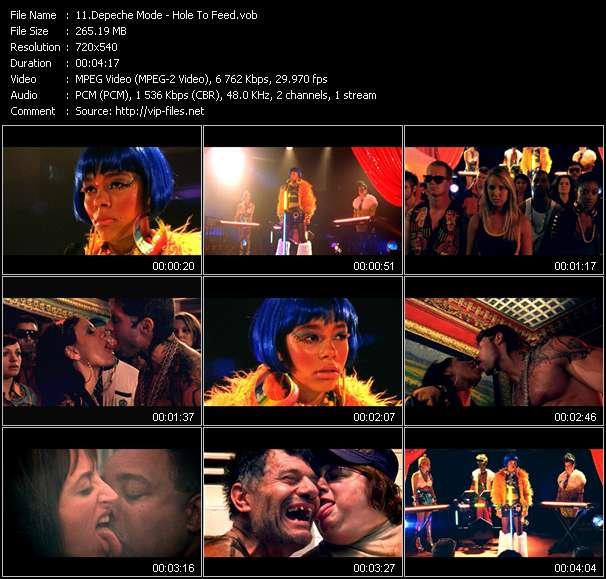 Screenshot of Music Video Depeche Mode - Hole To Feed