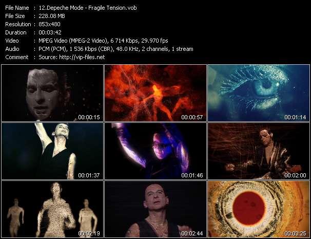 Screenshot of Music Video Depeche Mode - Fragile Tension