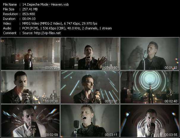 Screenshot of Music Video Depeche Mode - Heaven