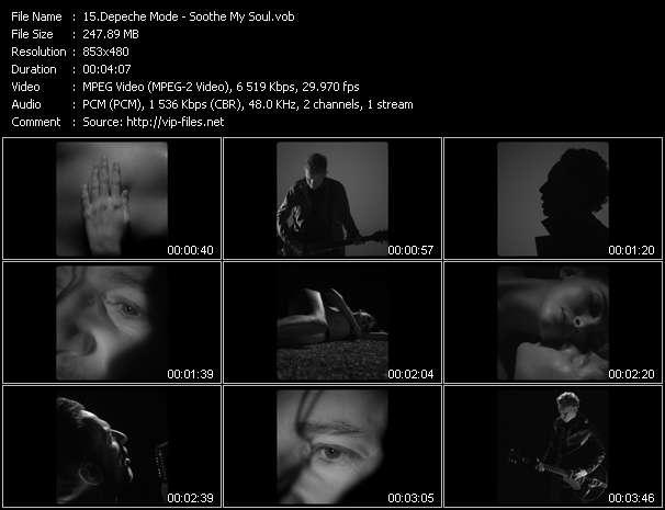 Screenshot of Music Video Depeche Mode - Soothe My Soul