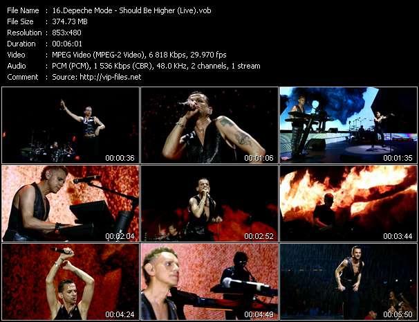 Screenshot of Music Video Depeche Mode - Should Be Higher (Live)