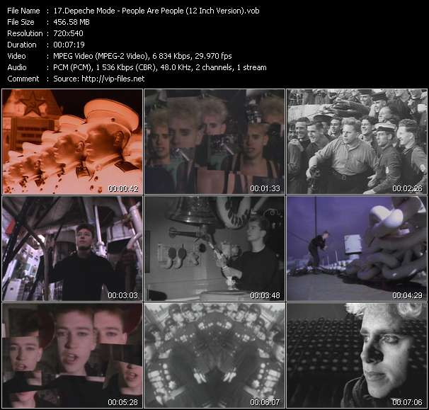 Screenshot of Music Video Depeche Mode - People Are People (12 Inch Version)