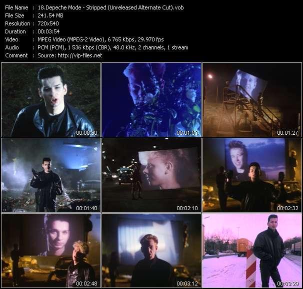 Screenshot of Music Video Depeche Mode - Stripped (Unreleased Alternate Cut)