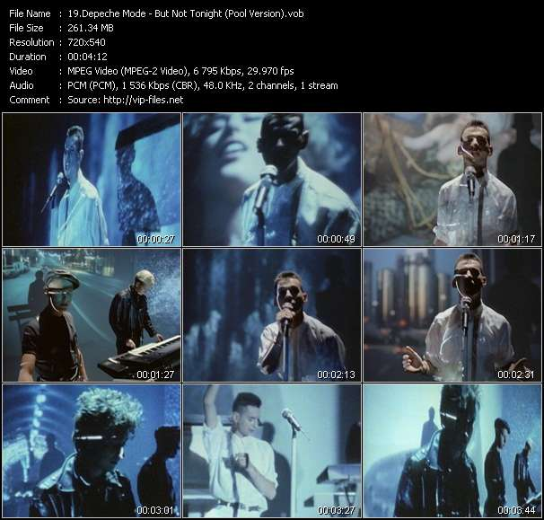 Screenshot of Music Video Depeche Mode - But Not Tonight (Pool Version)