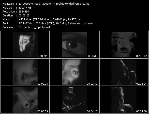 Screenshot of Music Video Depeche Mode - Soothe My Soul (Extended Version)