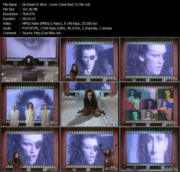 Screenshot of Music Video Dead Or Alive - Lover Come Back To Me
