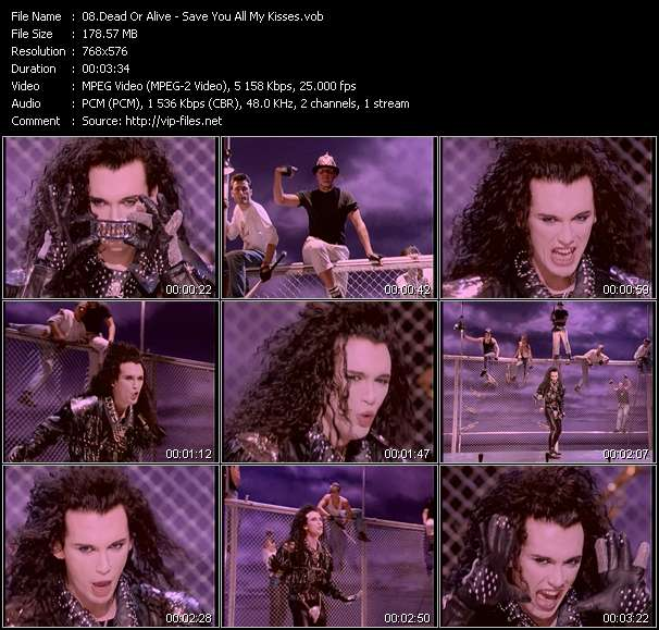 Screenshot of Music Video Dead Or Alive - Save You All My Kisses