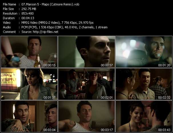 Screenshot of Music Video Maroon 5 - Maps (Cutmore Remix)