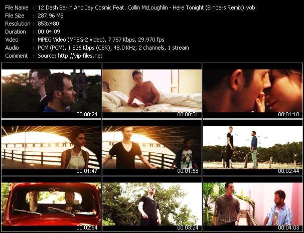 Screenshot of Music Video Dash Berlin And Jay Cosmic Feat. Collin McLoughlin - Here Tonight (Blinders Remix)