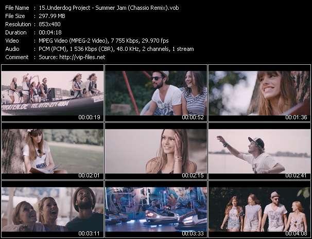 Screenshot of Music Video Underdog Project - Summer Jam (Chassio Remix)