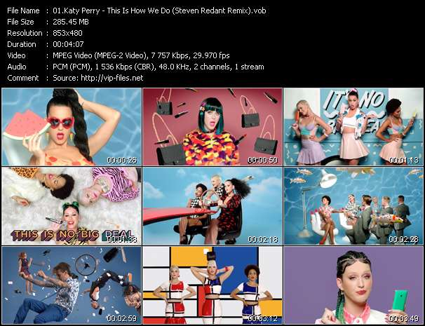 Screenshot of Music Video Katy Perry - This Is How We Do (Steven Redant Remix)