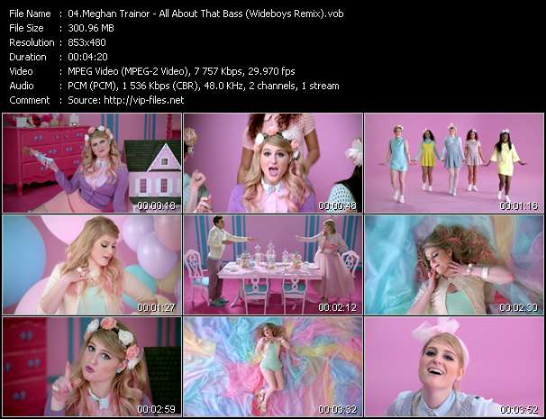 Screenshot of Music Video Meghan Trainor - All About That Bass (Wideboys Remix)