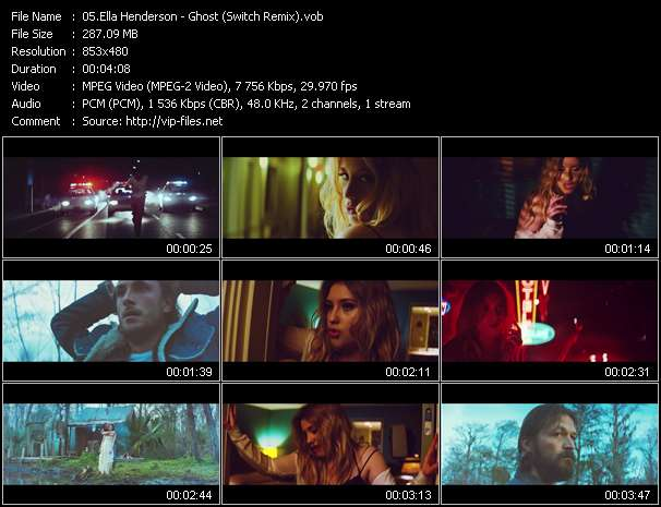 Screenshot of Music Video Ella Henderson - Ghost (Switch Remix)