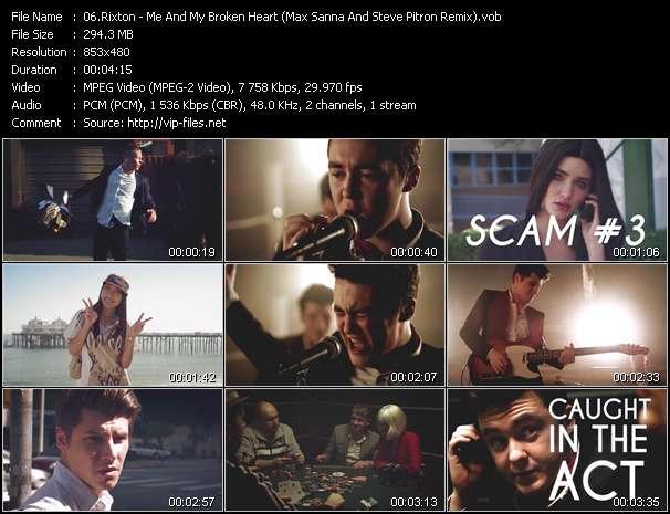 Screenshot of Music Video Rixton - Me And My Broken Heart (Max Sanna And Steve Pitron Remix)