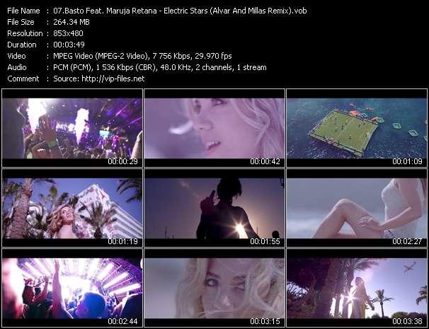 Screenshot of Music Video Basto Feat. Maruja Retana - Electric Stars (Alvar And Millas Remix)