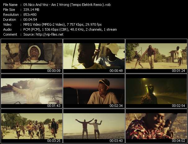 Screenshot of Music Video Nico And Vinz - Am I Wrong (Tempo Elektrik Remix)