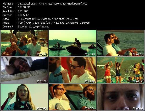 Screenshot of Music Video Capital Cities - One Minute More (Knick Knack Remix)