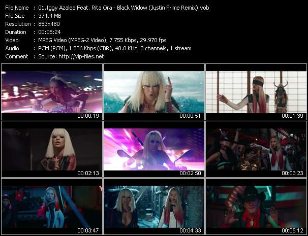 Screenshot of Music Video Iggy Azalea Feat. Rita Ora - Black Widow (Justin Prime Remix)