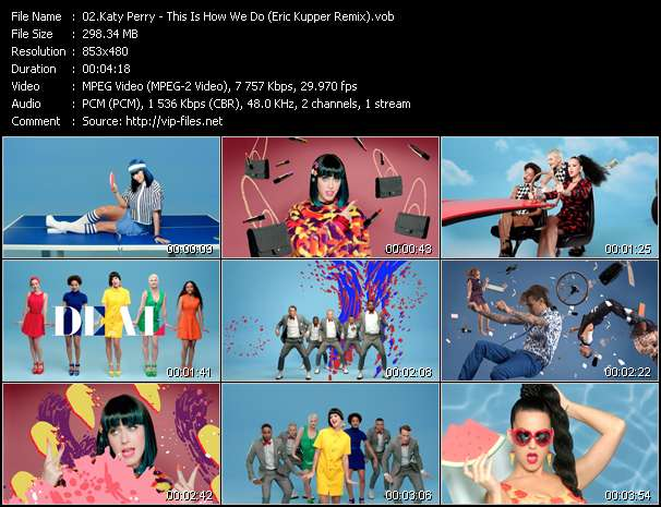 Katy Perry video vob