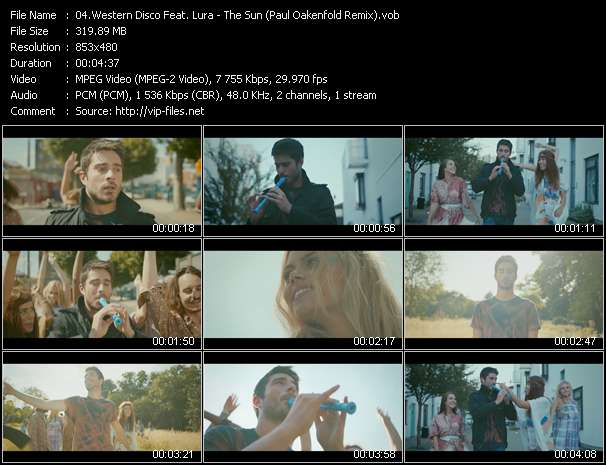 Screenshot of Music Video Western Disco Feat. Lura - The Sun (Paul Oakenfold Remix)