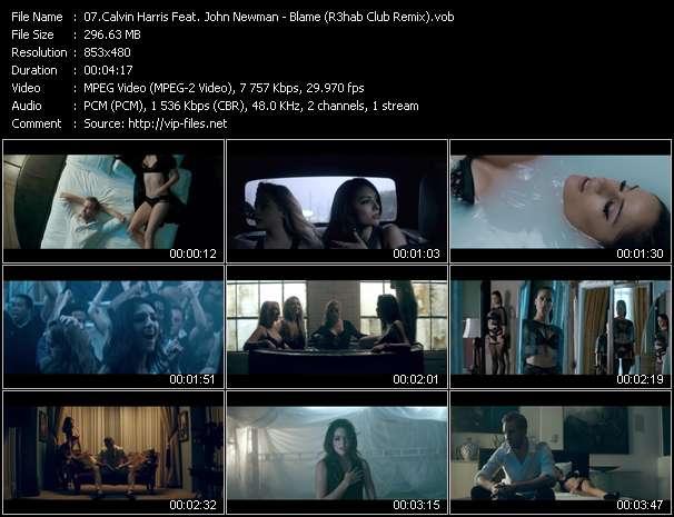 Screenshot of Music Video Calvin Harris Feat. John Newman - Blame (R3hab Club Remix)