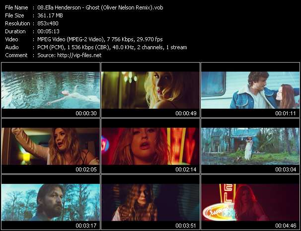 Screenshot of Music Video Ella Henderson - Ghost (Oliver Nelson Remix)