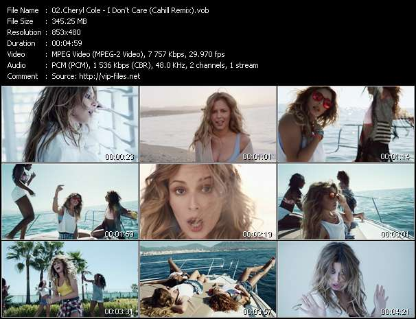 Cheryl Cole video vob