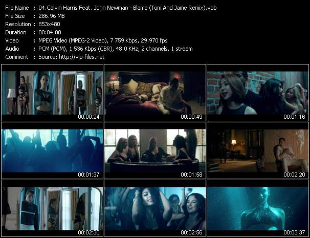 Calvin Harris Feat. John Newman clips musicaux vob