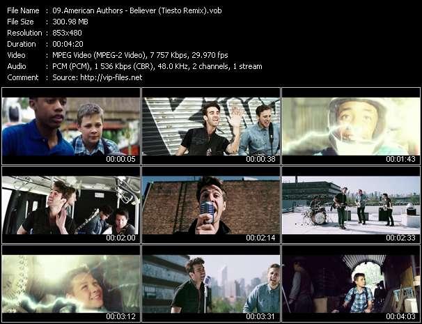 Screenshot of Music Video American Authors - Believer (Tiesto Remix)