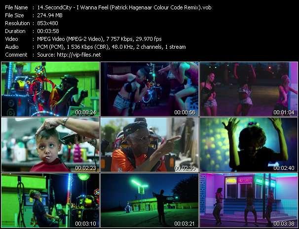 Screenshot of Music Video SecondCity - I Wanna Feel (Patrick Hagenaar Colour Code Remix)