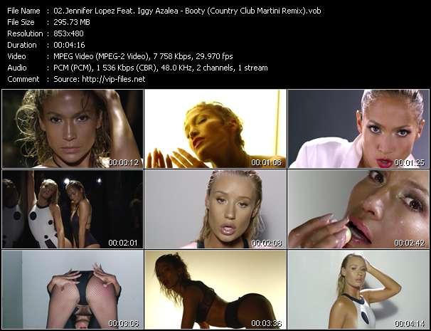 Screenshot of Music Video Jennifer Lopez Feat. Iggy Azalea - Booty (Country Club Martini Remix)