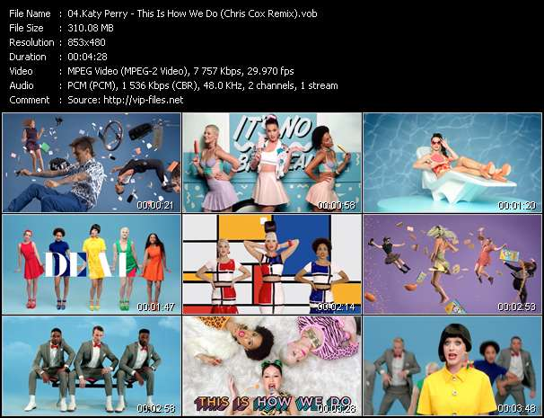 Screenshot of Music Video Katy Perry - This Is How We Do (Chris Cox Remix)