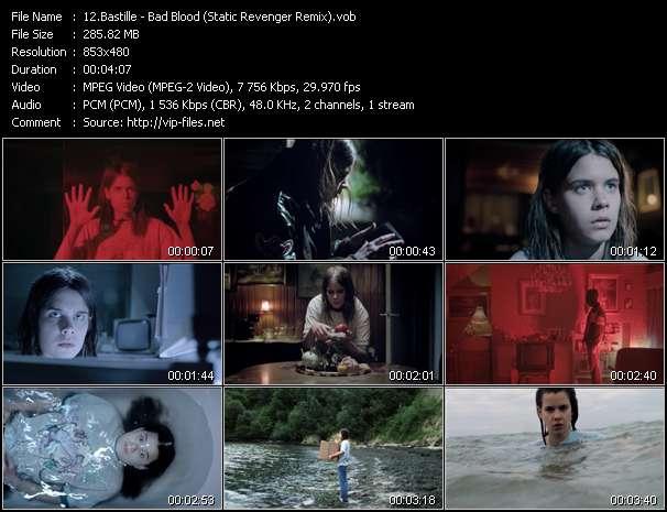 Screenshot of Music Video Bastille - Bad Blood (Static Revenger Remix)
