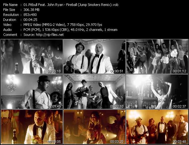 Screenshot of Music Video Pitbull Feat. John Ryan - Fireball (Jump Smokers Remix)